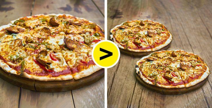 Nagy pizza vagy két kis pizza